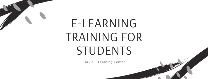 E-Learning Training for Students